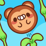 猴子滚动可爱攀爬